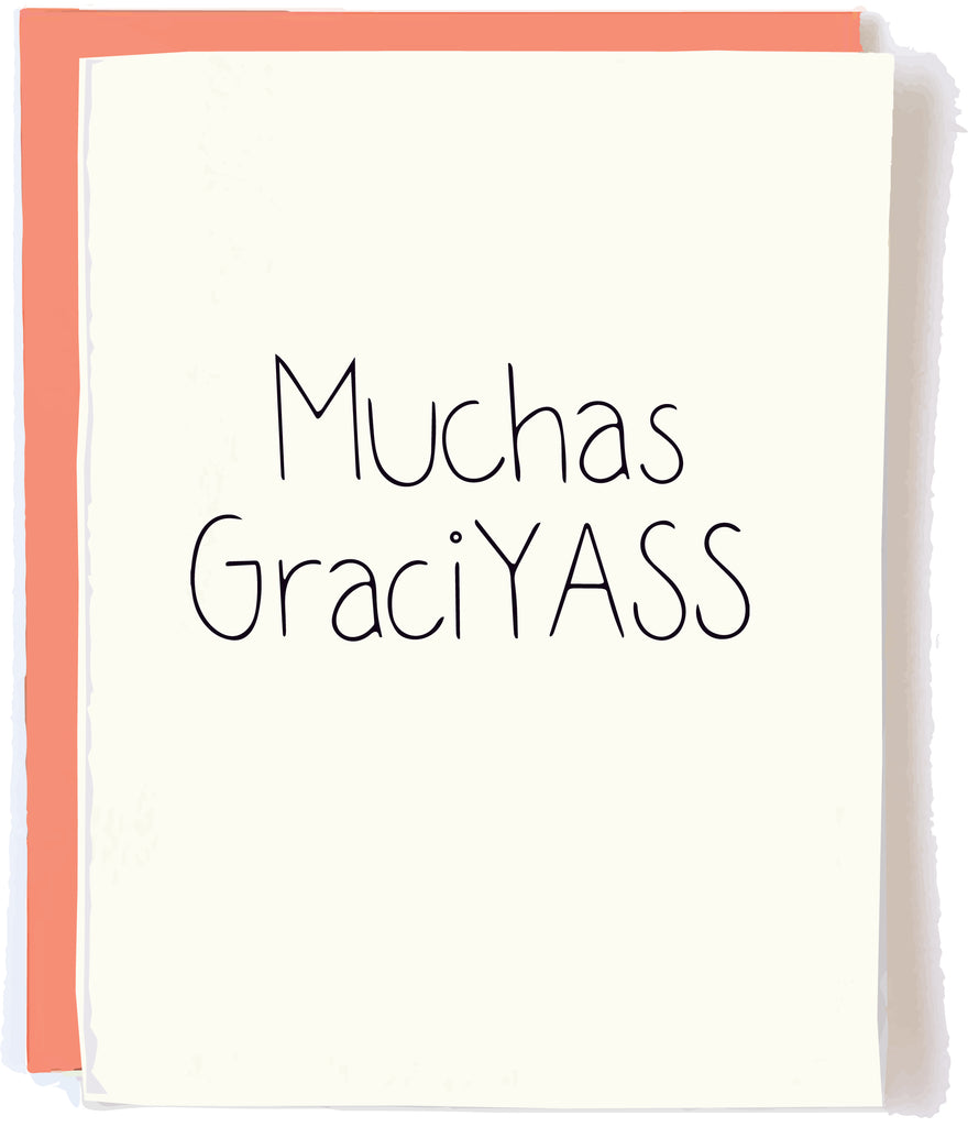 Muchas GraciYASS Card by Pop + Paper