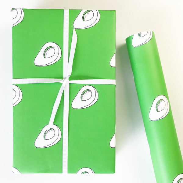 Avocado Gift Wrapping Paper by Chalkscribe
