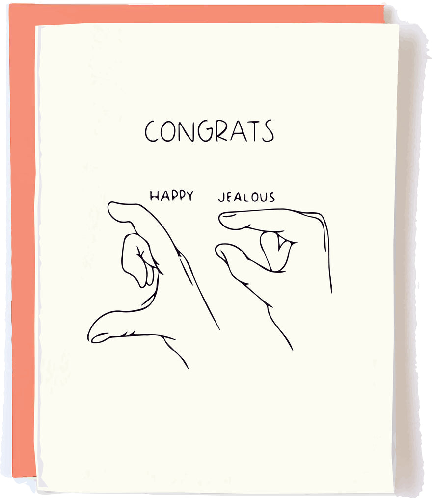 Pop and Paper Funny Congrats Card Jealous