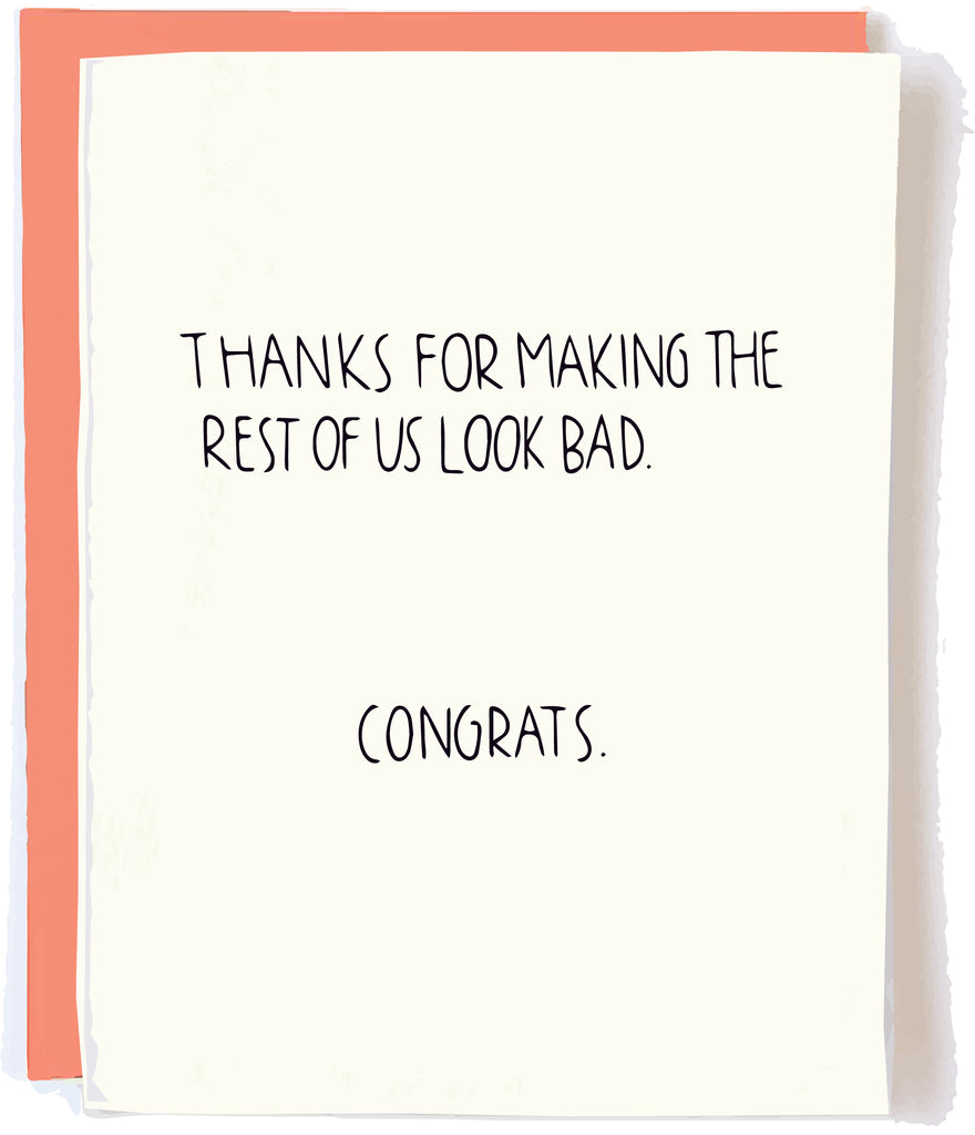 Funny Congrats Card by Pop + Paper