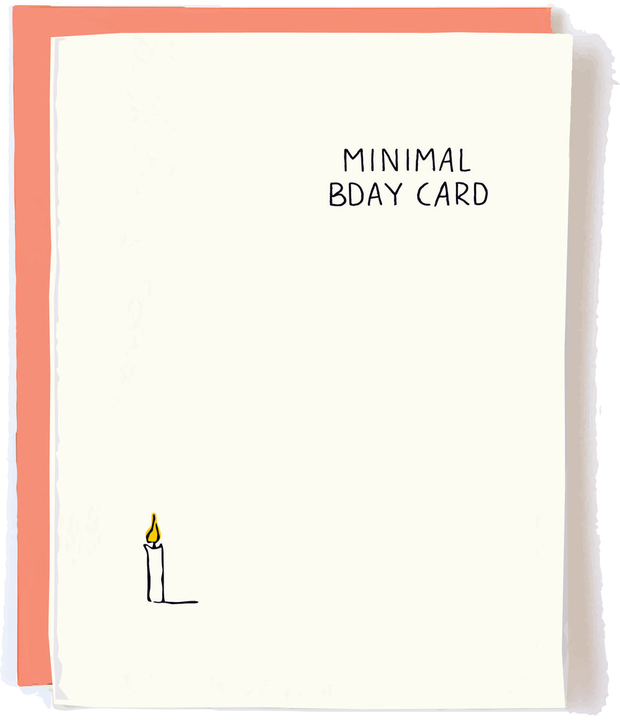 Minimal Birthday Card by Pop + Paper