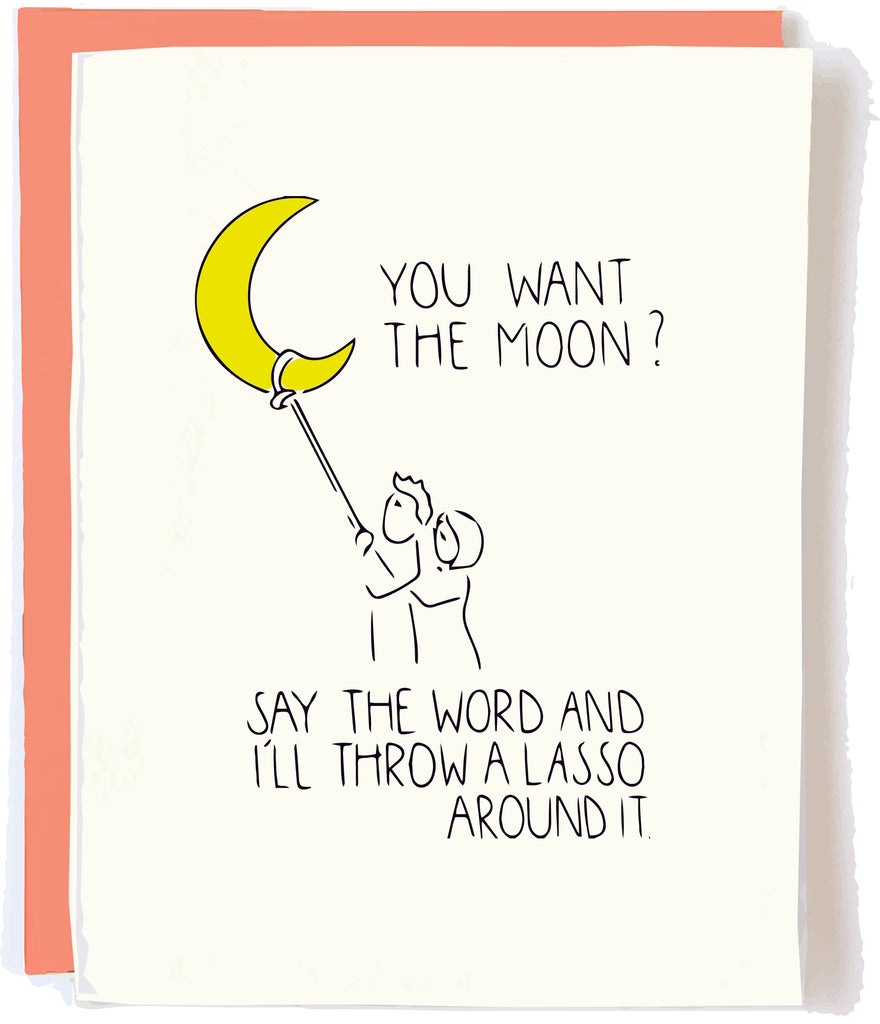 Lasso the Moon Card by Pop and Paper