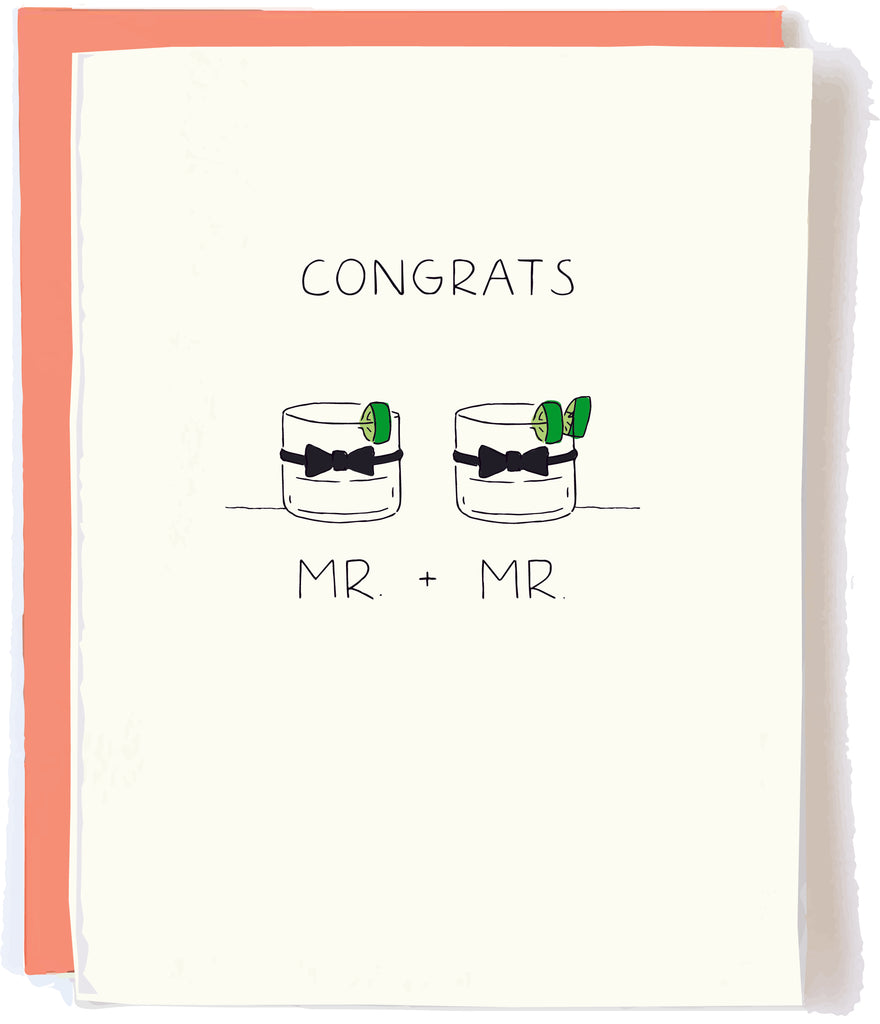 Gay Wedding Grooms Card by Pop + Paper