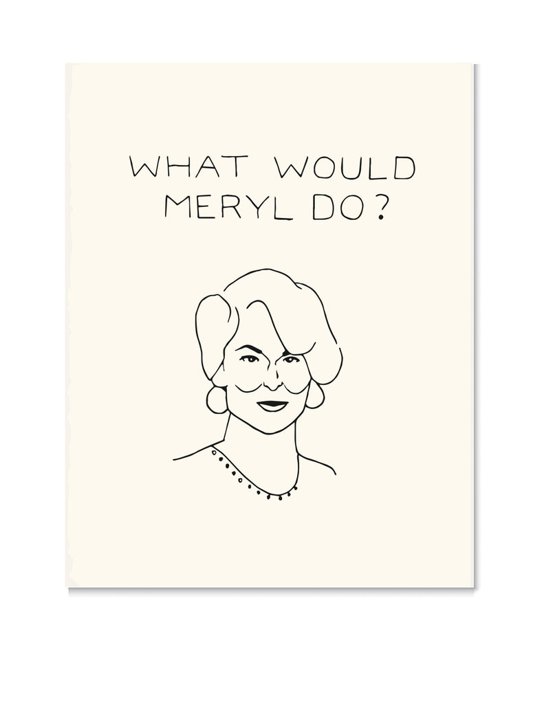 Meryl Streep Art Print by Chalkscribe