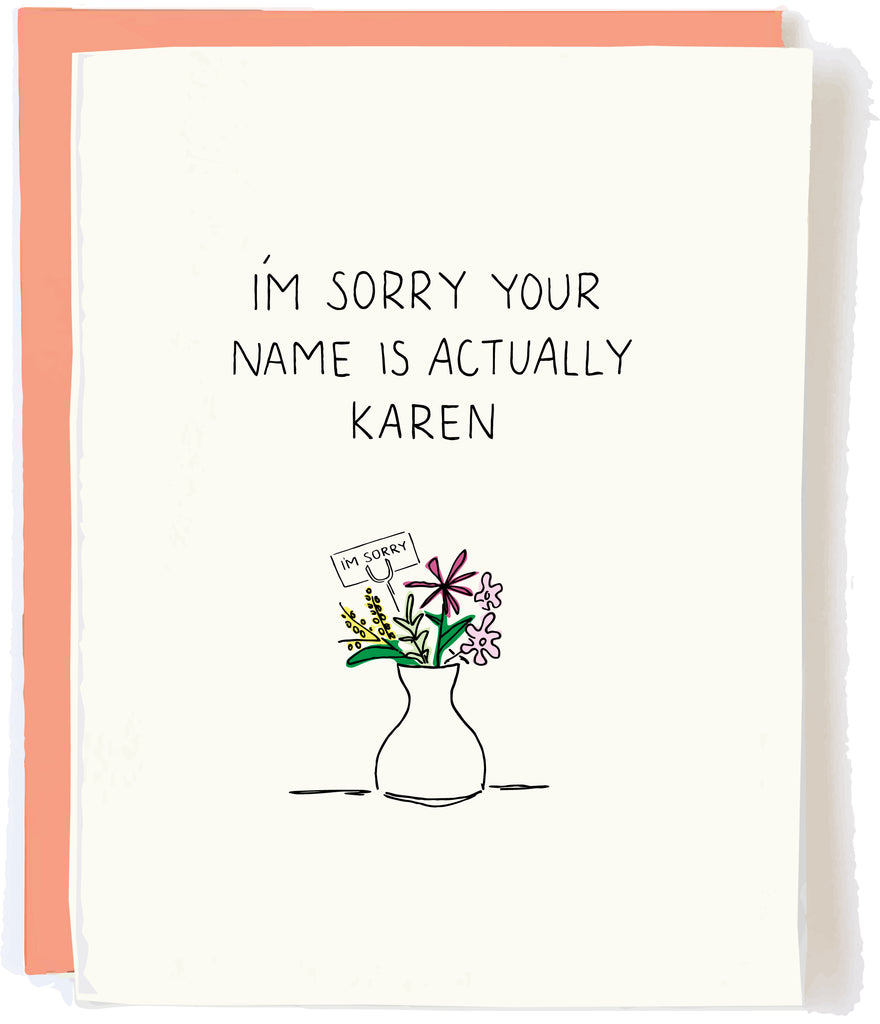 Karen Birthday Card Can I speak to the manager pop and paper