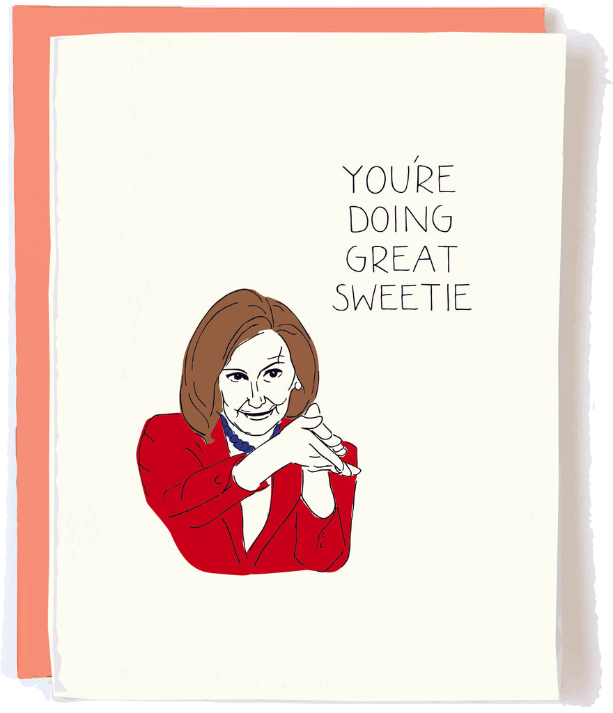 Nancy Pelosi Card by Pop and Paper
