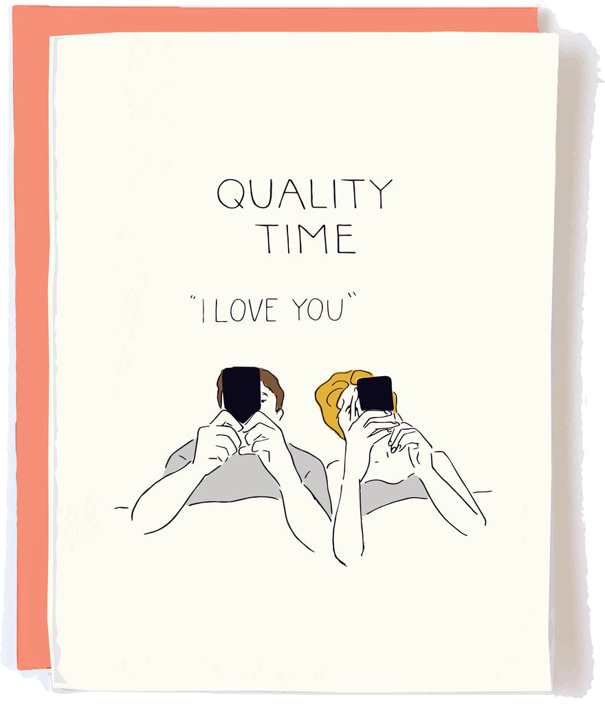 Pop and Paper Quality Time Anniversary Card