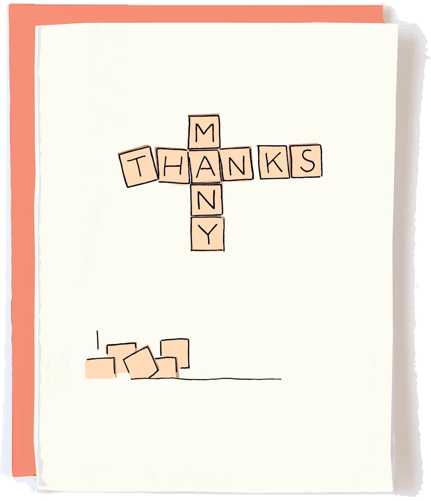 Scrabble Thank You Card by Pop + Paper
