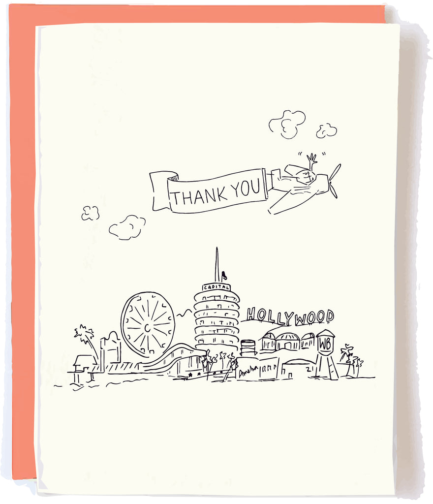 Los Angeles Skyline Card by Pop + Paper