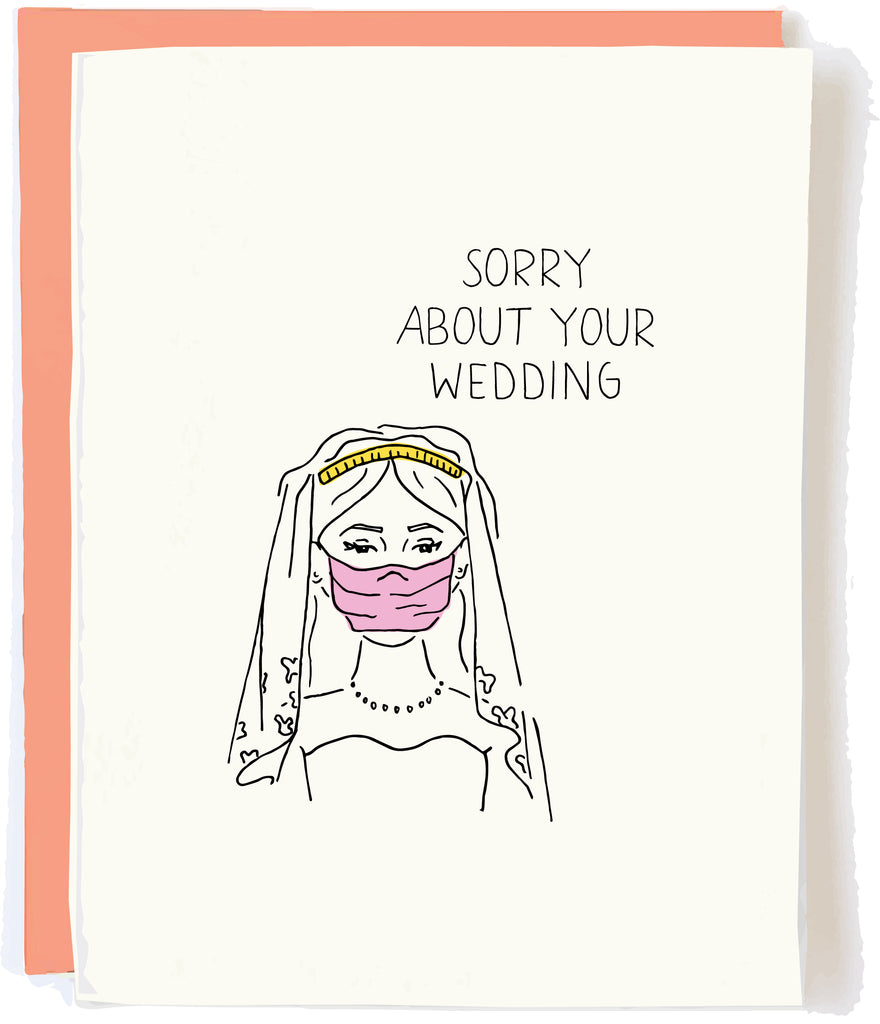 Cancelled Wedding Sympathy Card by Pop and Paper