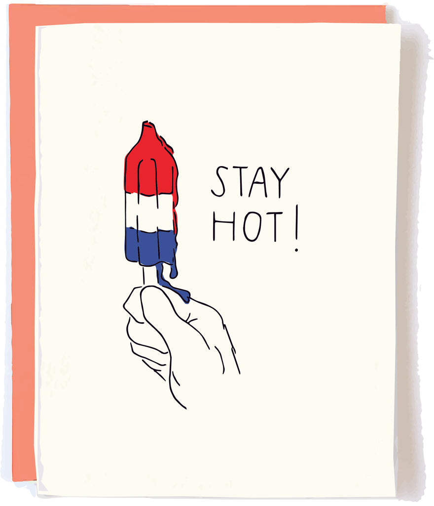 4th of July card by pop and paper