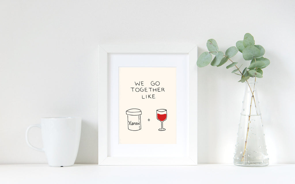 Funny Wine Art Print by Chalkscribe