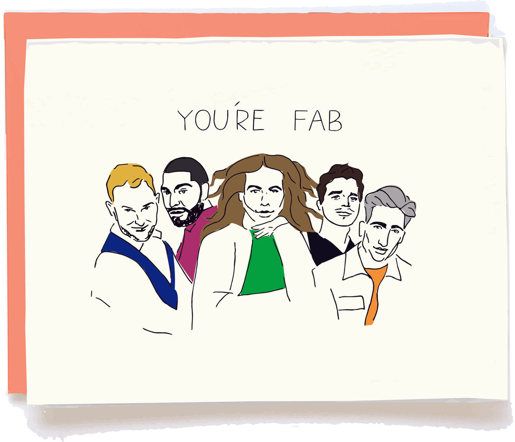 Queer Eye Fab Five Card by Pop + Paper