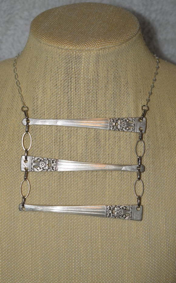 Vintage Silverware Handle Necklace