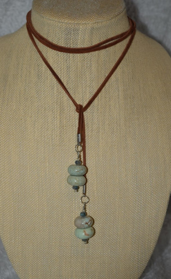 Brown Suede Lariat Necklace...more colors available