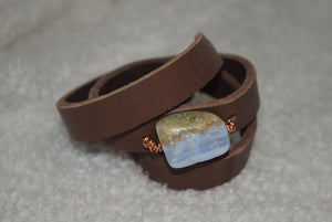 The Leather Wrap Around Bracelet