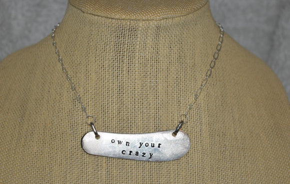 Personalized Stamped Knife Necklace...many varieties