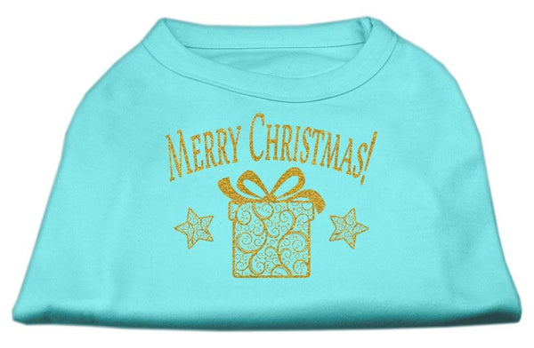 Merry Christmas – neat Gold design – Pet  Shirt – Made in USA, Gift