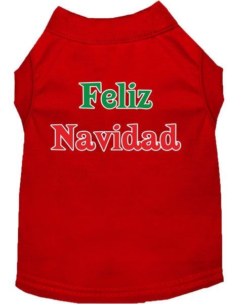 Feliz Navidad -Christmas - Holiday Print Pet Shirt, Made in USA - Gift