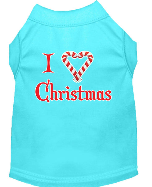 I- Love - Christmas design, Pet themed Dog Shirt Made in USA, gift