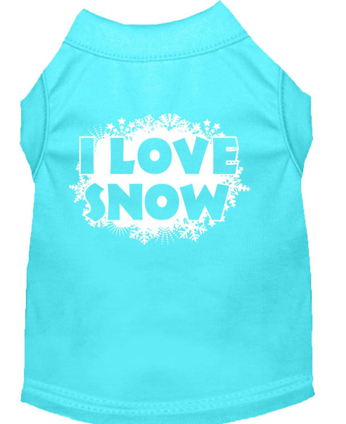 I Love Snow - Christmas, winter themed - pet, dog, cat shirt, gift