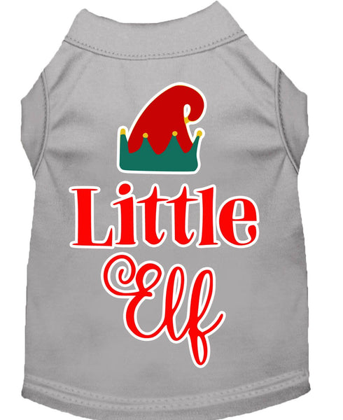 Little Elf -  Christmas – Holiday Pet, Dog, Cat  Shirt – Made in USA