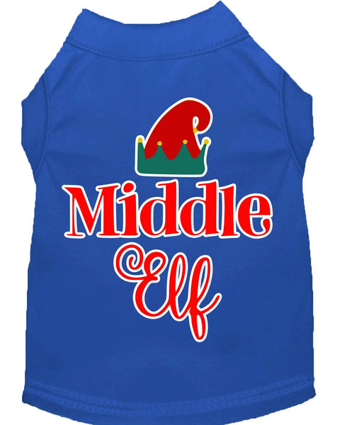 Middle Elf  –  Christmas – Holiday  Pet, Dog, Cat  Shirt – Made in USA