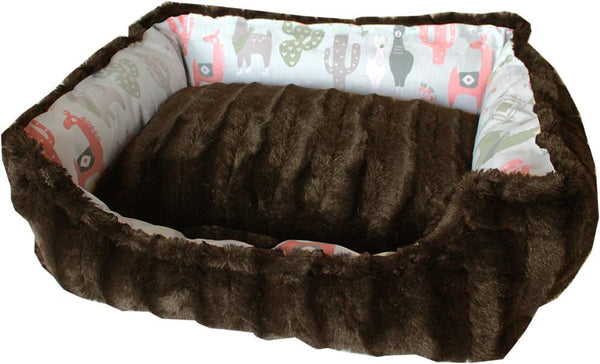 Mirage Pet Wanderlust Reversible bumper style  pet bed