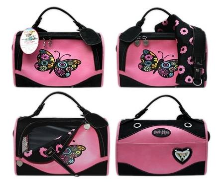 Pet Flys Airline-Butterfly design - Regular size Pet Carrier, Made in USA