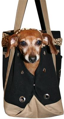 Pet Flys Airline- Mon Bon Chien design Pet Carrier, Made in USA