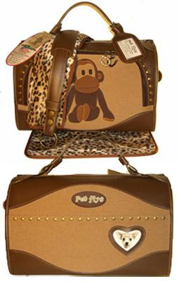 Pet Flys Uncle Monkey Regular Size- Airline-structured- Pet Carrier, Made in USA