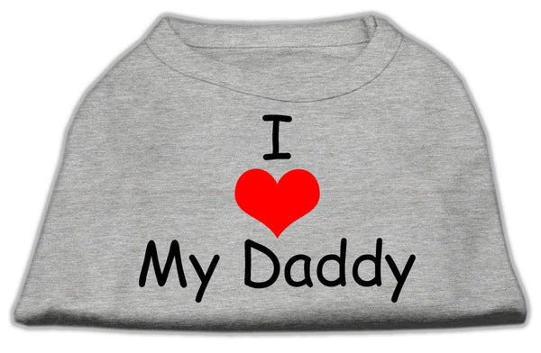 I Love Daddy - Pet, Dog, Cat apparel-clothing- Shirt -Made in US-Gift