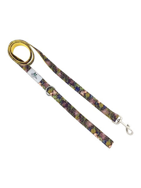 Eggplant style Dog, cat, pet leash.  Custom fabric and nylon designed .
