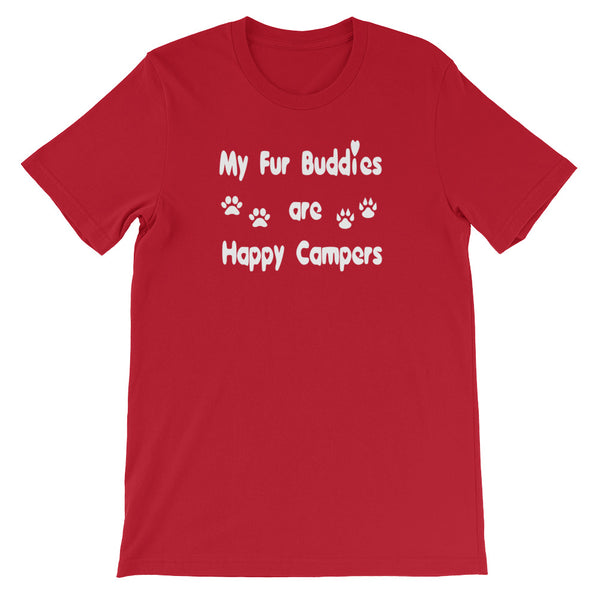 Popular unique original Pet themed Fur Buddy Campers Unisex T-Shirt