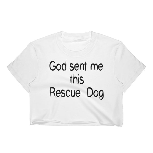 Rescue pet themed Crop Top shirt - gift-  • Form fitting