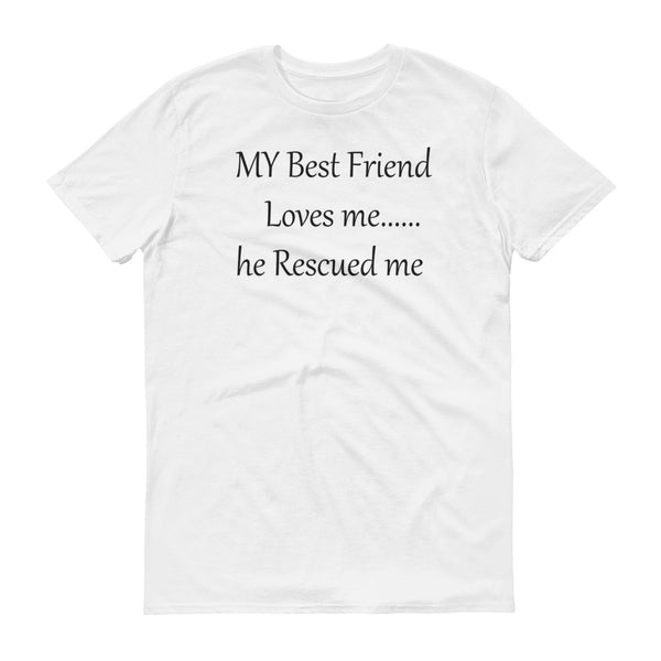 wonderful rescue pet saying on quality pet shirt -  100% ring-spun cotton (heather colors contain polyester) • Baby-knit jersey