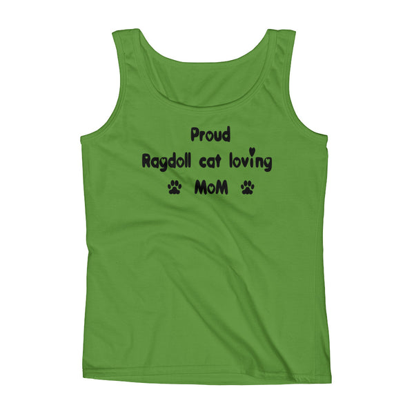 Proud Ragdoll cat loving Mom - Ladies' Tank - pre-shrunk ring-spun cotton