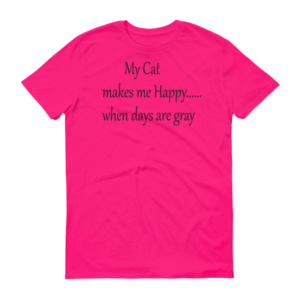 Unique original , cute pet themed Cat themed Tee shirt - gift