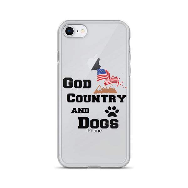 God, Country, and Dogs -  themed 7/8 iphone case