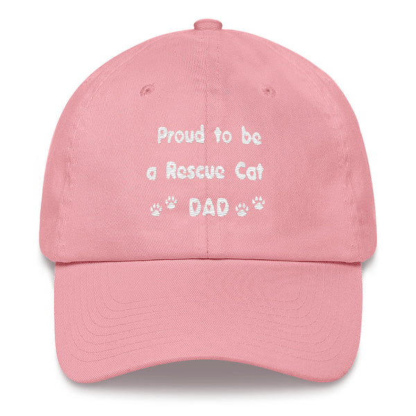 Popular unique Rescue pet themed Cat lover Dad baseball cap - hat