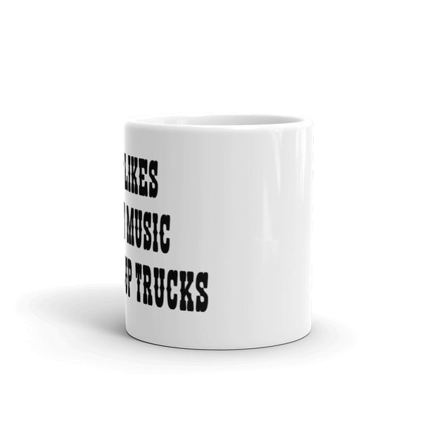 My Dog Likes Country Music and Pickup Trucks - Mug - sturdy white, glossy ceramic