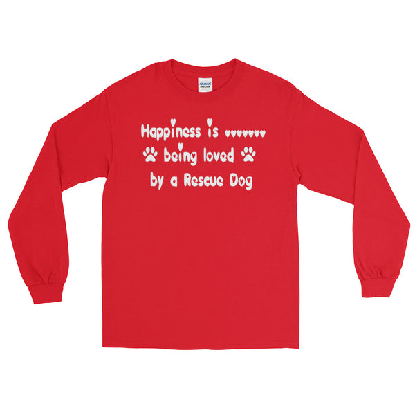Rescue Dog lover gift - Red long sleeve pet themed shirt