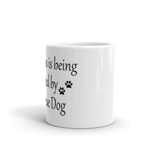 Happiness is being Loved by a Rescue Dog - coffee mug - gift