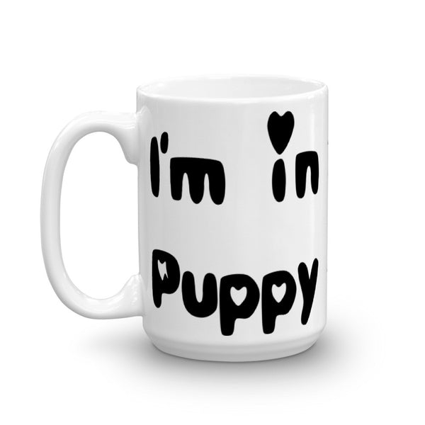 I'm in Rescued Puppy Love - Mug - sturdy white, glossy ceramic