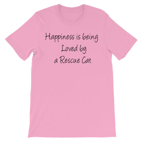 Loved by Rescue Cat - Wonderful rescue cat themed - pet themed T shirt