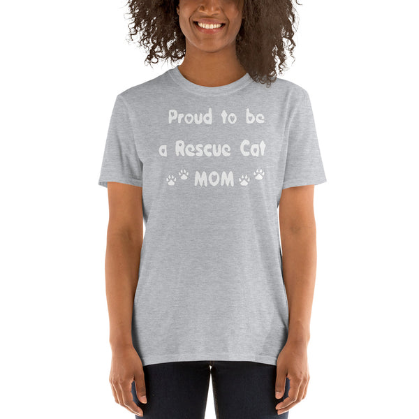 Proud to be a Rescue Cat MoM - Low cost Cat lover Tee-Shirt - gift