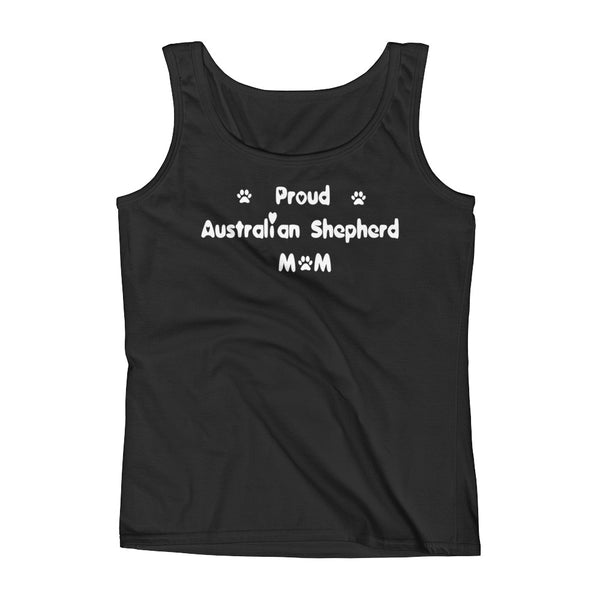 Proud Australian Shepherd - Womens Tank Top in White letters