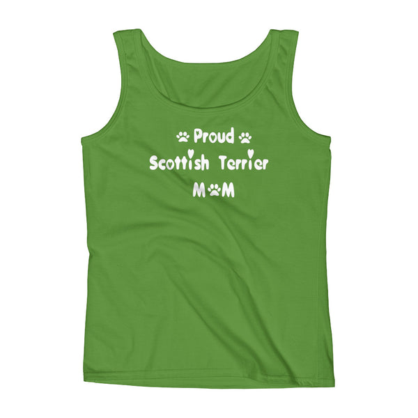 Proud Scottish Terrier Mom - Ladies' Tank - 100% pre-shrunk ring-spun cotton