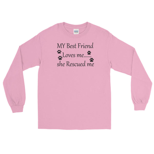 Cute Rescue Pet themed popular, unique pet lover themed long sleeve T shirt