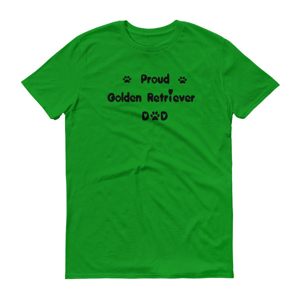 Proud Golden Retriever Dad - Short sleeve t-shirt - 100% ringspun lightweight cotton • Pre-shrunk
